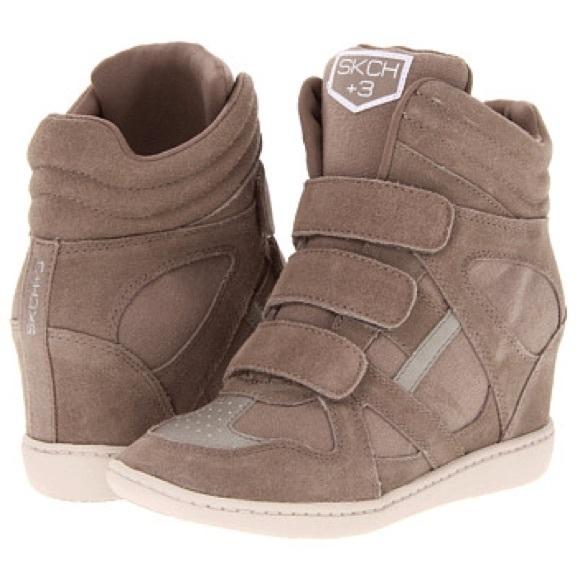 Skechers SKCH +3 wedge tennis shoes